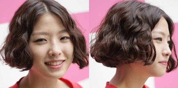 可爱的短发卷发发型图片