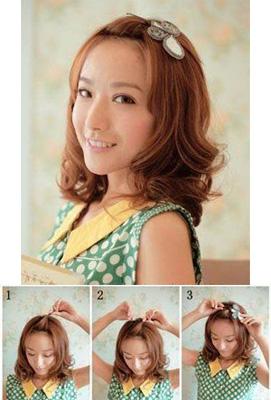 简单可爱的韩式编发发型(第2页)