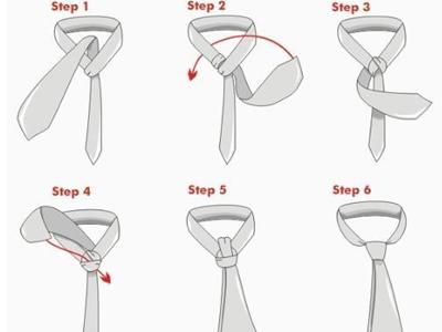 图解 领带/三种最简单领带打法图解