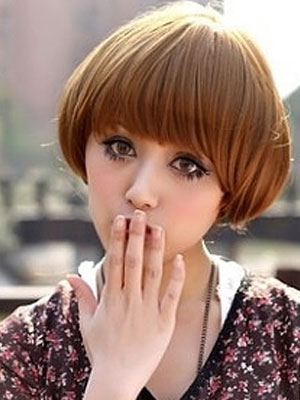 最适合圆脸女孩的短发发型(图片)