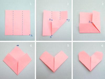 教你如何用长方形纸叠爱心